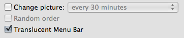 Transparent Menu bar