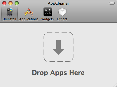 ApplCleaner main window
