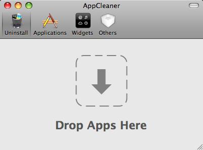 ApplCleaner mainwindow