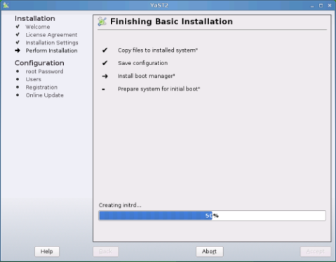 Finishing Basic Installation