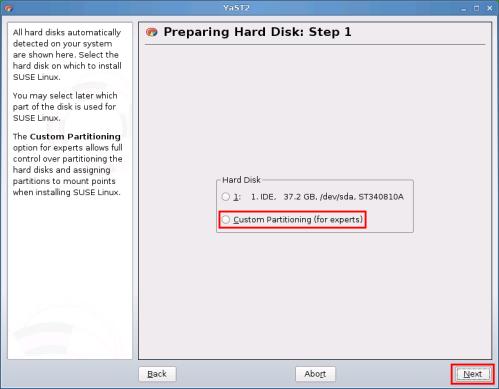 Preparing hard disk