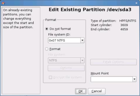 Editar partición