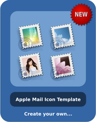 Mail icon template