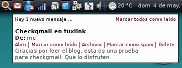 Prueba Tuxlink CheckGmail