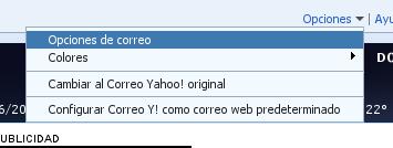 Opciones de correo Yahoo