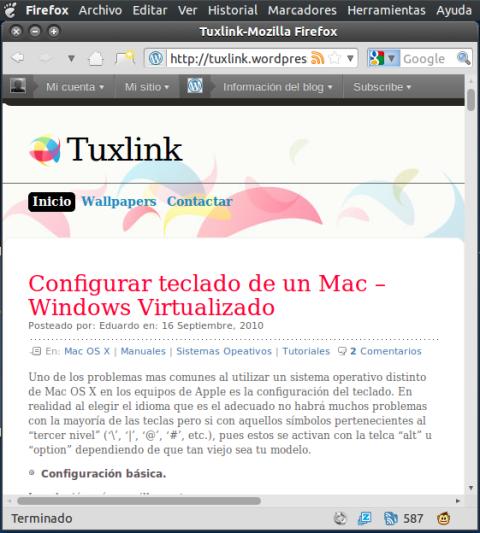 Firefox con Globalmenu